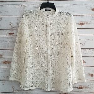 EUC🌻Softwear by Mark Singer Romantic Lace Jacket